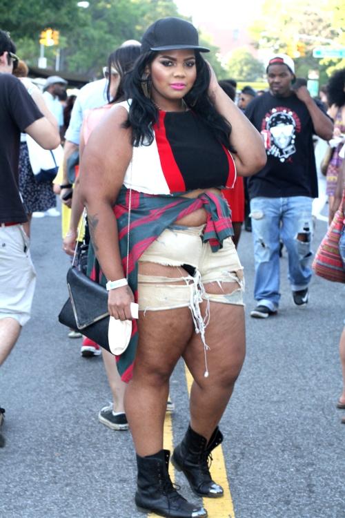 Afropunk fest street style, black streetstyle, african-american street style, black alternative fashion