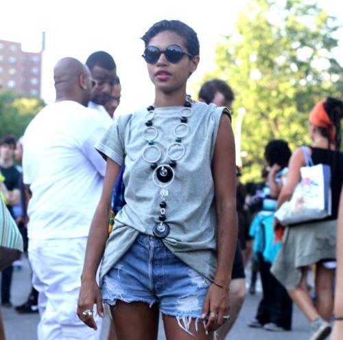 Afropunk fest street style, black street style, african-american street style, black alternative fashion