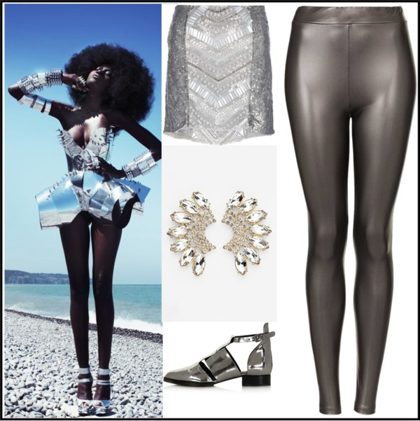 Futuristic Metallic Fashion Futuristic Fashion