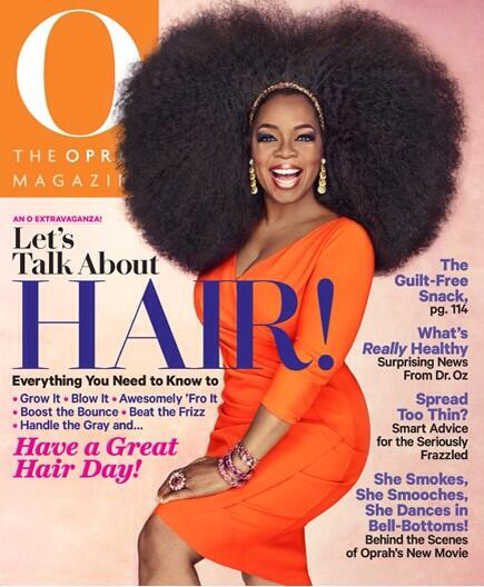 Oprah, andre walker, natural hair
