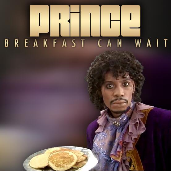 prince dave chappelle single cover, prince breakfast can wait