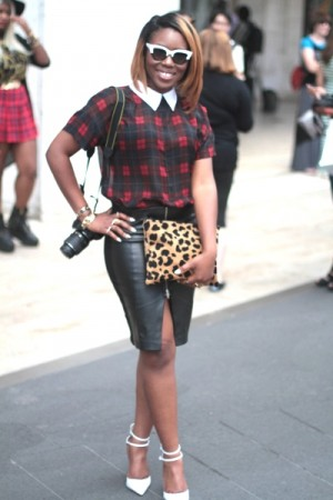 Exclusive.  Black Street Fashion at New York Fashion Week.