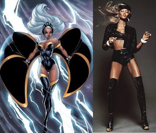 Naomi Campbell, Storm, Black Female Superheroes