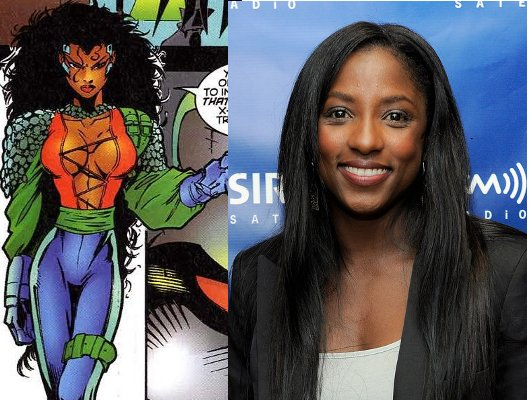 Blue Backdrop for photography, rutina Wesley, Threnody, Black Female Superheroes