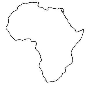 Africaoutlinemap  SUPERSELECTED  Black Fashion Magazine Black