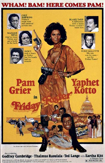 Friday Foster, Black Comic Book Heroines, Pam Grier, Female Blaxploitation Movie Stars
