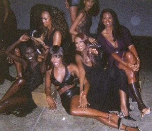Throwback Thursday.  Clara. Tyra. Naomi. Liya. Iman. and Beverly.