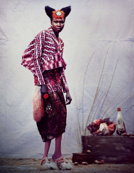 Alek Wek, Financial Times, Black Fashion Models, Andrew Yee