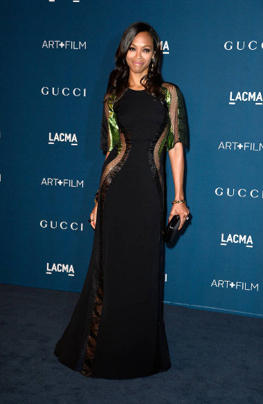 Zoe Saldana, Custom Gucci, LACMA 2013
