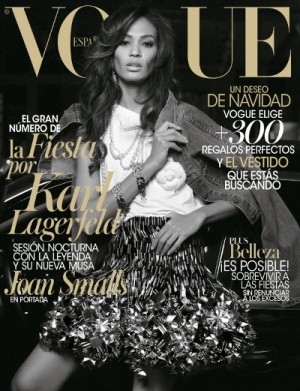 Editorials.  Joan Smalls.  Vogue Spain.  Karl Lagerfeld.