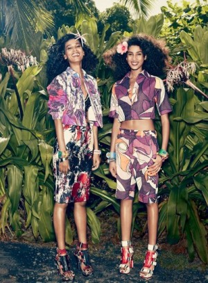 Editorials.  Liya Kebede.  Imaan Hammam. Vogue US January 2014.  Mikael Jansson.