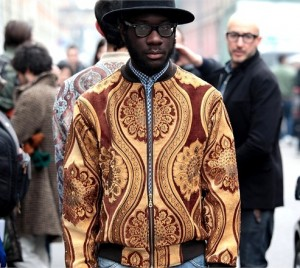 Street Fashion. Dapper Men at Men's Fashion Week in Milan.