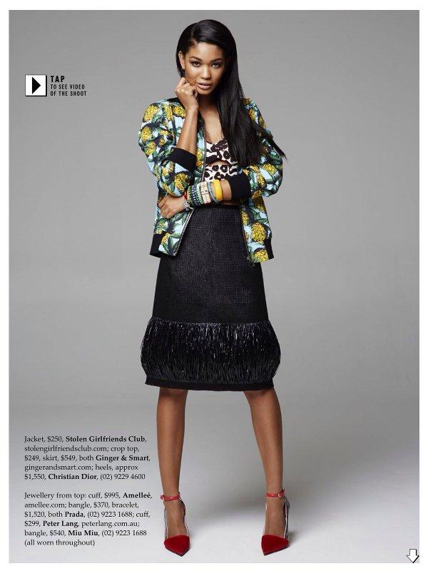 Chanel Iman, Pierre Toussaint, elle Australia, Black Fashion Models