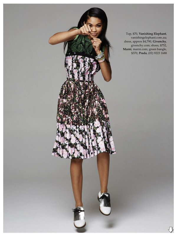Chanel Iman, Pierre Toussaint, elle Australia, Black Fashion Models