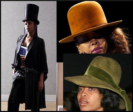 Erykah Badu Hats