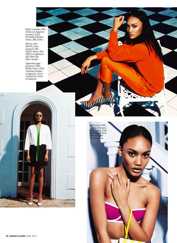 Josilyn Williams, Marie Claire UK, Alexander Neumann, Black Fashion Models