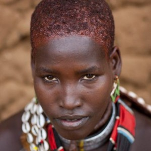 Black Hair.  Tribes in Ethiopia Use Butter For Hair Styling and Maintenance.