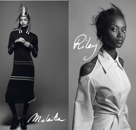 Malaika Firth, Riley M, Vogue Paris, Black Fashion Models