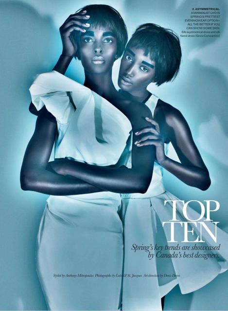 Black Fashion Models, Elle Canada, Leda & St. Jacques