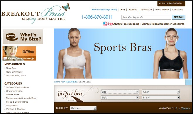 Breakout Bras, Finding the Right Bras