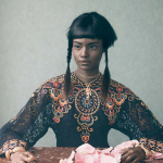 Editorials.  Malaika Firth is Regal in Vogue Italia. by Sølve Sundsbø.