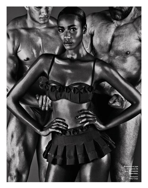 Nadja Giramata, Black fashion Models, Christian Anwander, Grazia France