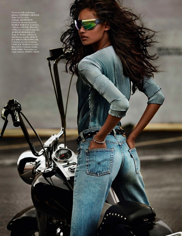 Malaika Firth Vogue Paris, Black Fashion Models, Mario Testino