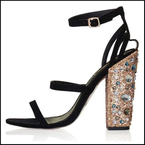 Topshop Jeweled Heels