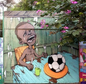 Brazilian Street Artists Use Their Talents To Protest FIFA And The World Cup.