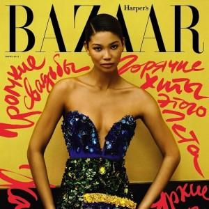 Editorials.  Chanel Iman.  Harper's Bazaar Russia. by Alexander Neumann.