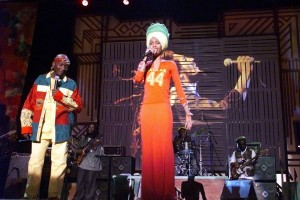 Throwback.  Erykah Badu And Jimmy Cliff.  No Woman No Cry.