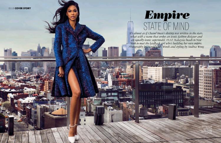 Chanel Iman, Black Fashion Models, Elle Malaysia, Daniel Goh