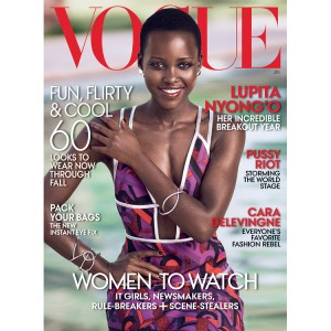 Lupita Nyong'o Covers Vogue's July 2014 Issue. by Mikael Jansson.