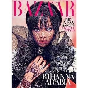 Rihanna Models Modest Looks For Harper's Bazaar Arabia.