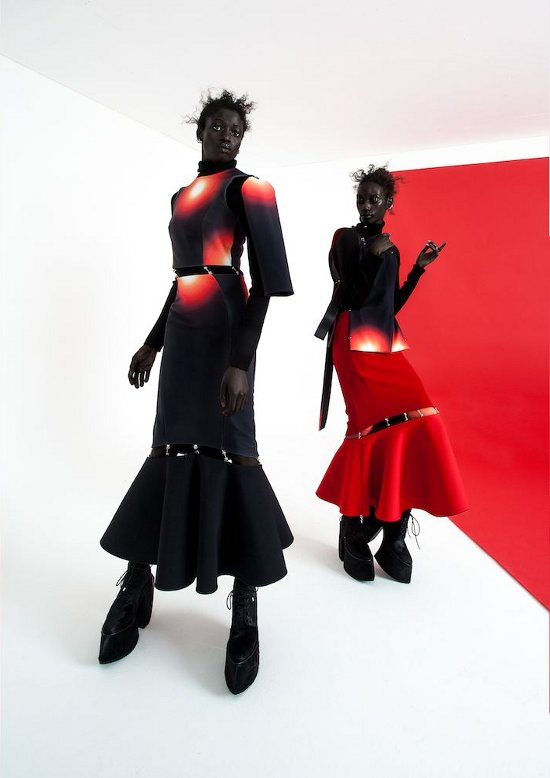 Robert Wun Fall 2014 Volt Lookbook, Black Fashion Models