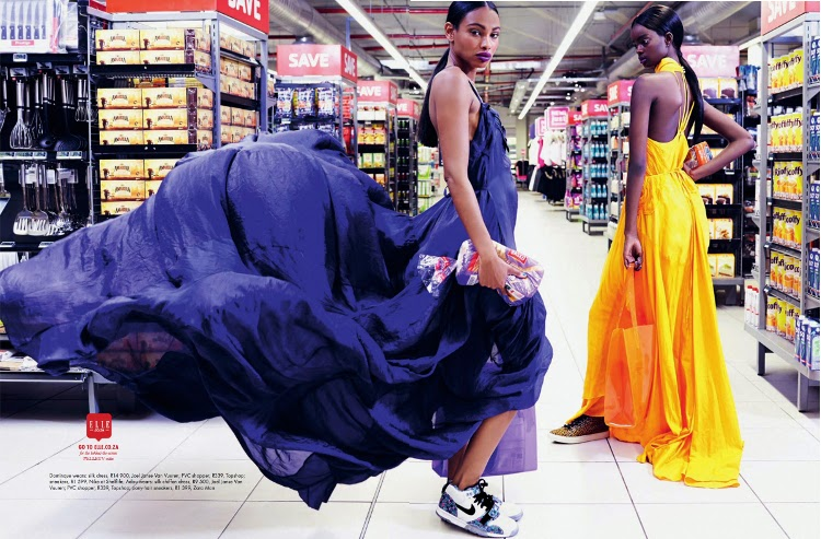 Dominique Adau Mornyang, Elle South Africa, Damon Fourie