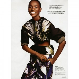 Editorials.  Herieth Paul.  Glamour Magazine.  by Victor Demarchelier.