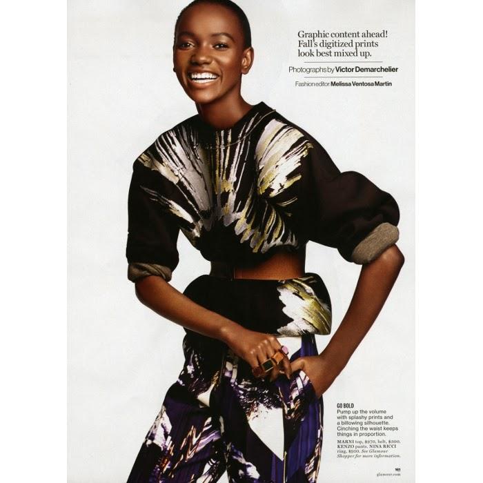 Herieth Paul, Black fashion Magazine, Glamour Magazine 2014, Victor Demarchelier