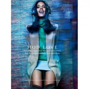 Editorials.  Grace Mahary Goes Retro For Elle Canada. by Leda & St-Jacques.