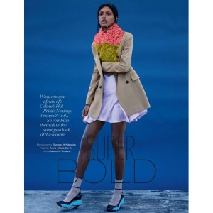Editorials. Jasmine Tookes. Elle UK September 2014. by Thomas Whiteside.