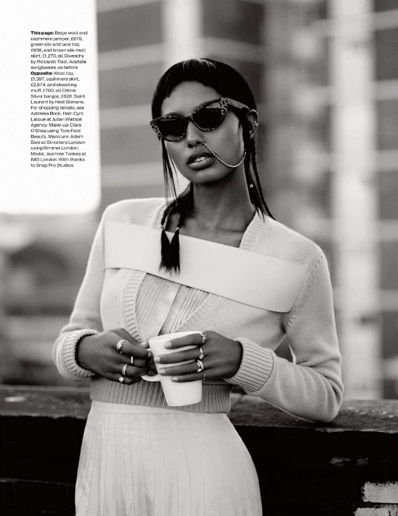 Jasmine Tookes, Black Fashion Models, Elle UK, Thomas Whiteside