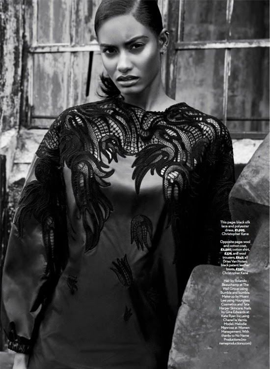 Melodie Monrose, Black Fashion Models, Marie Claire UK