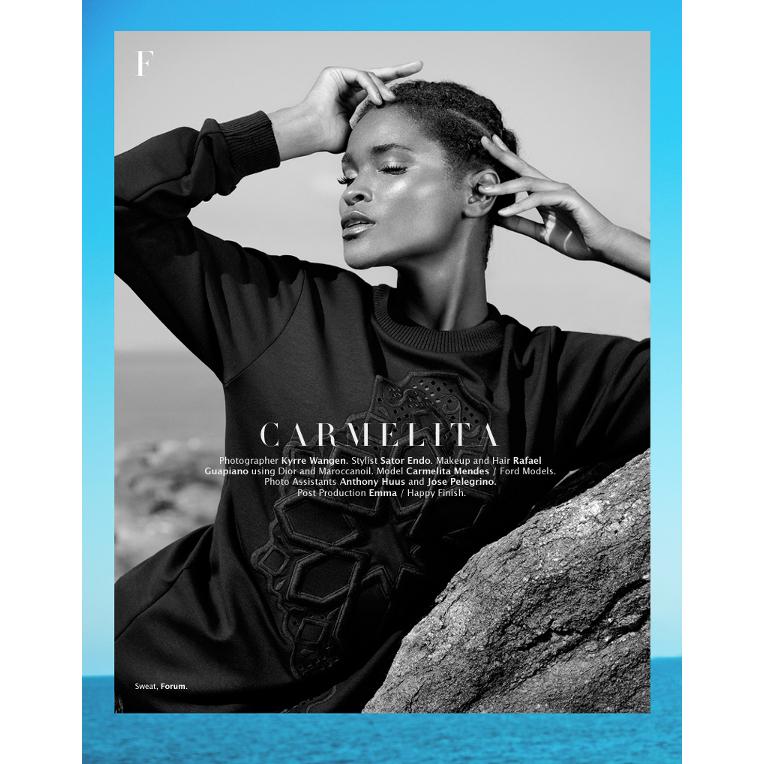 Carmelita Mendes, Factice Magazine, Kyrre Wangen