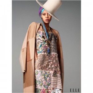 Erykah Badu Talks Personal Style in Elle Magazine's October 2014 Issue.