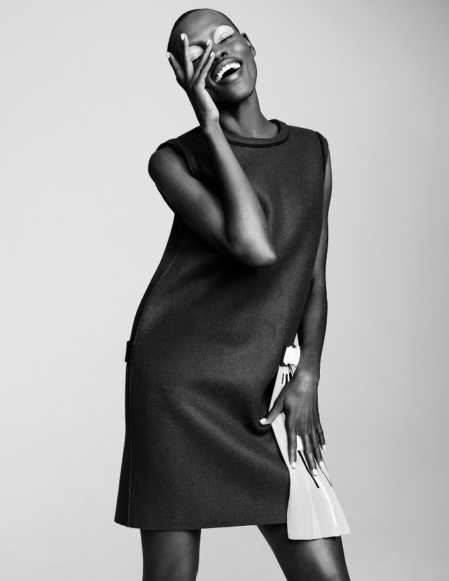 Grace Bol, Simon Burstall, Hunger Magazine, Black Fashion Models