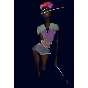 Art.  Fashion Illustration by Kris Keys.