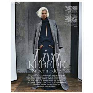 Editorials.  Liya Kebede.  Marie Claire France.  by Tiziano Magni.