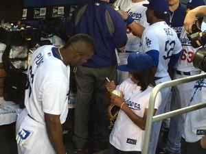 Mo'ne Davis Meets The Los Angeles Dodgers.