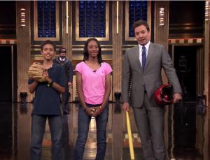 Watch This.  Mo'ne Davis Pitches To Jimmy Fallon.