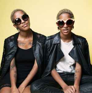 Twin Designers Coco and Breezy Rock Their Cool Shades For NYLON Magazine.
